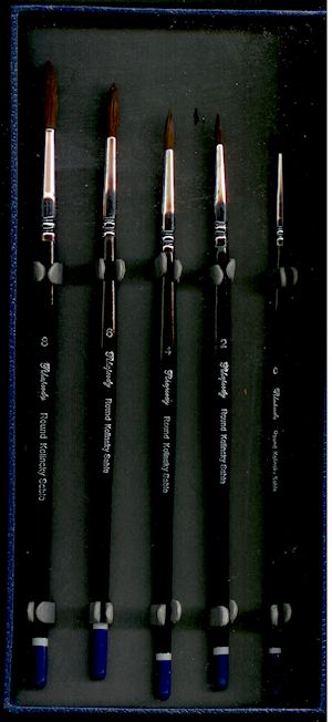 rhapsody kolinsky sable brush set
